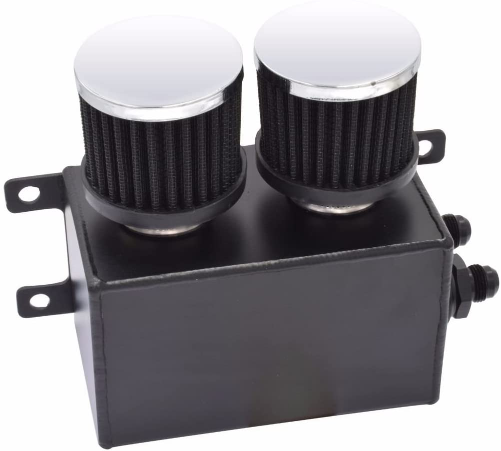 Twin Baffle Dual Filter Engine Oil Catch Can: image