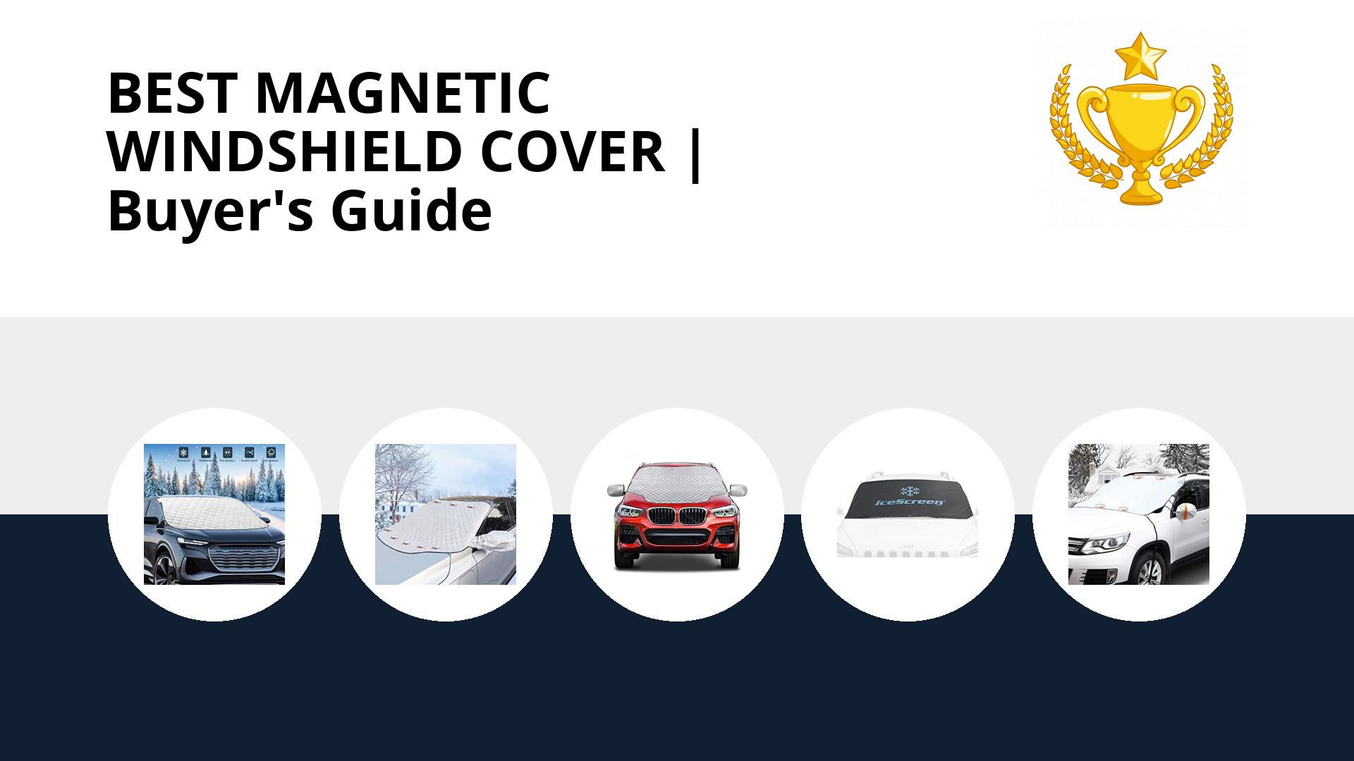 Best Magnetic Windshield Cover: image
