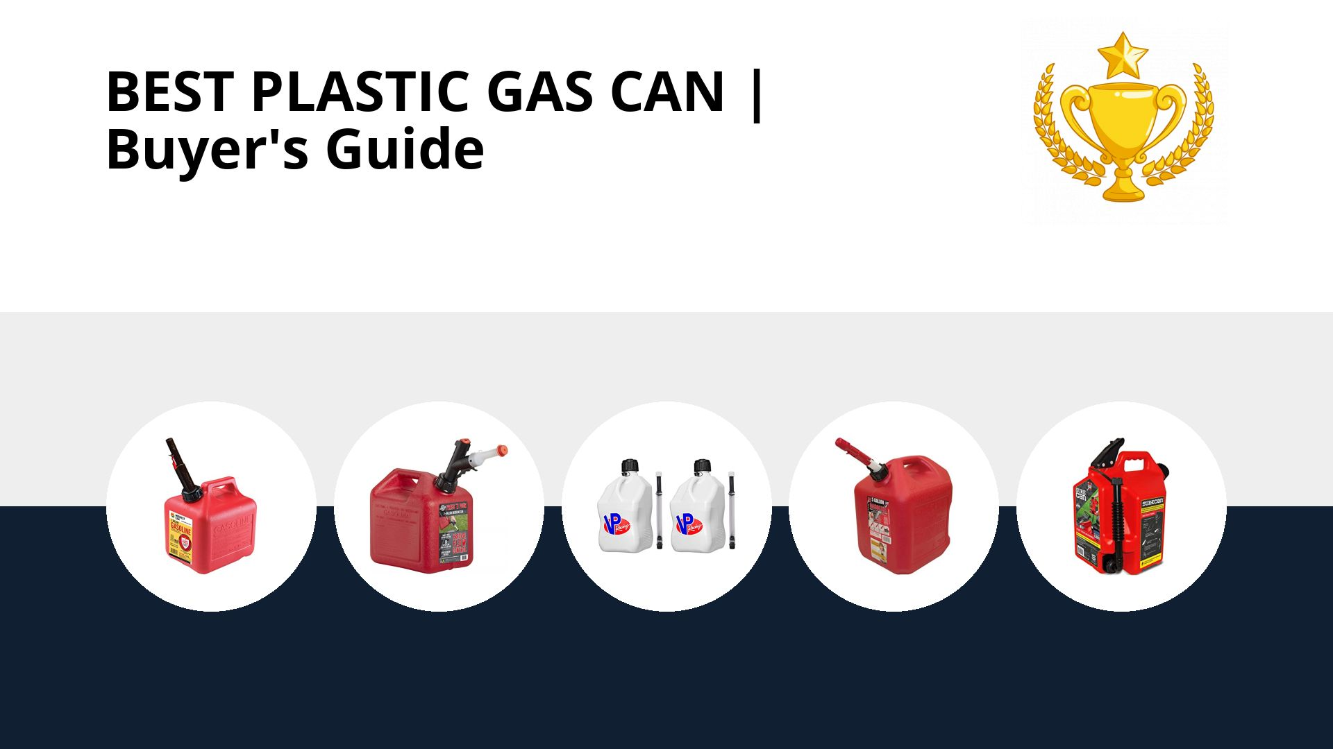 Best Plastic Gas Can: image
