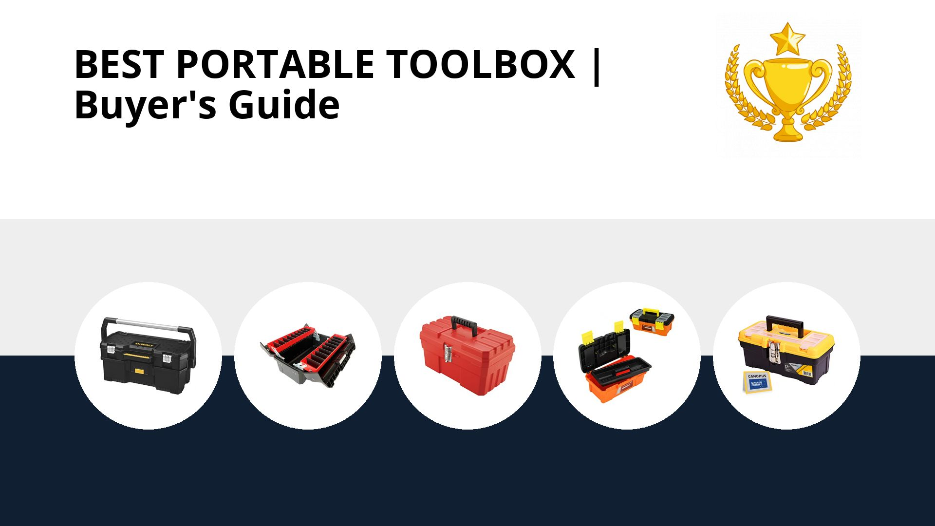 Best Portable Toolbox: image