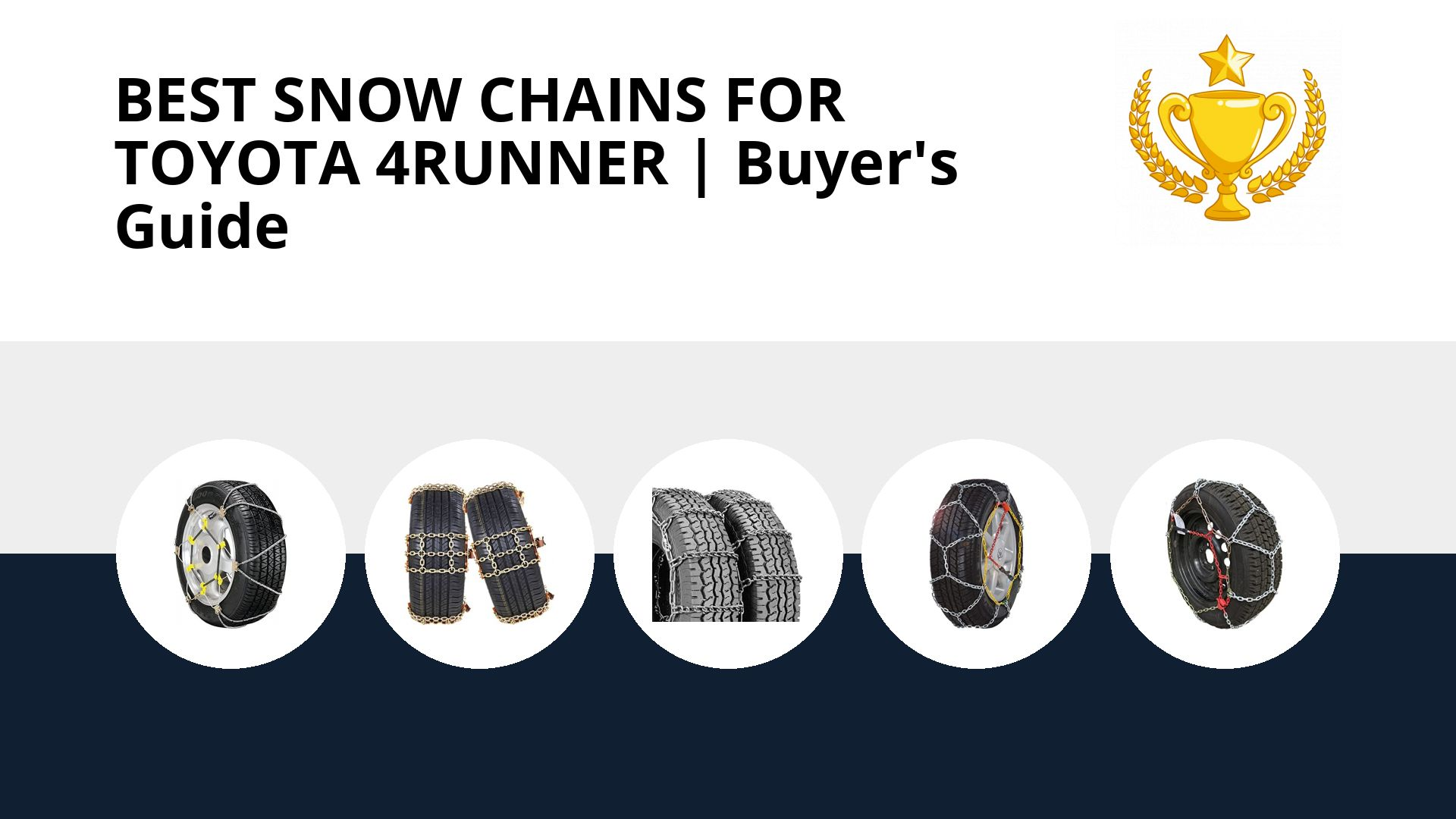 Best Snow Chains For Toyota 4runner: image