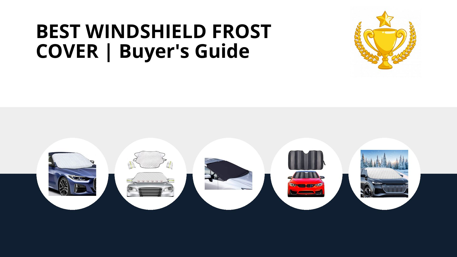 Best Windshield Frost Cover: image