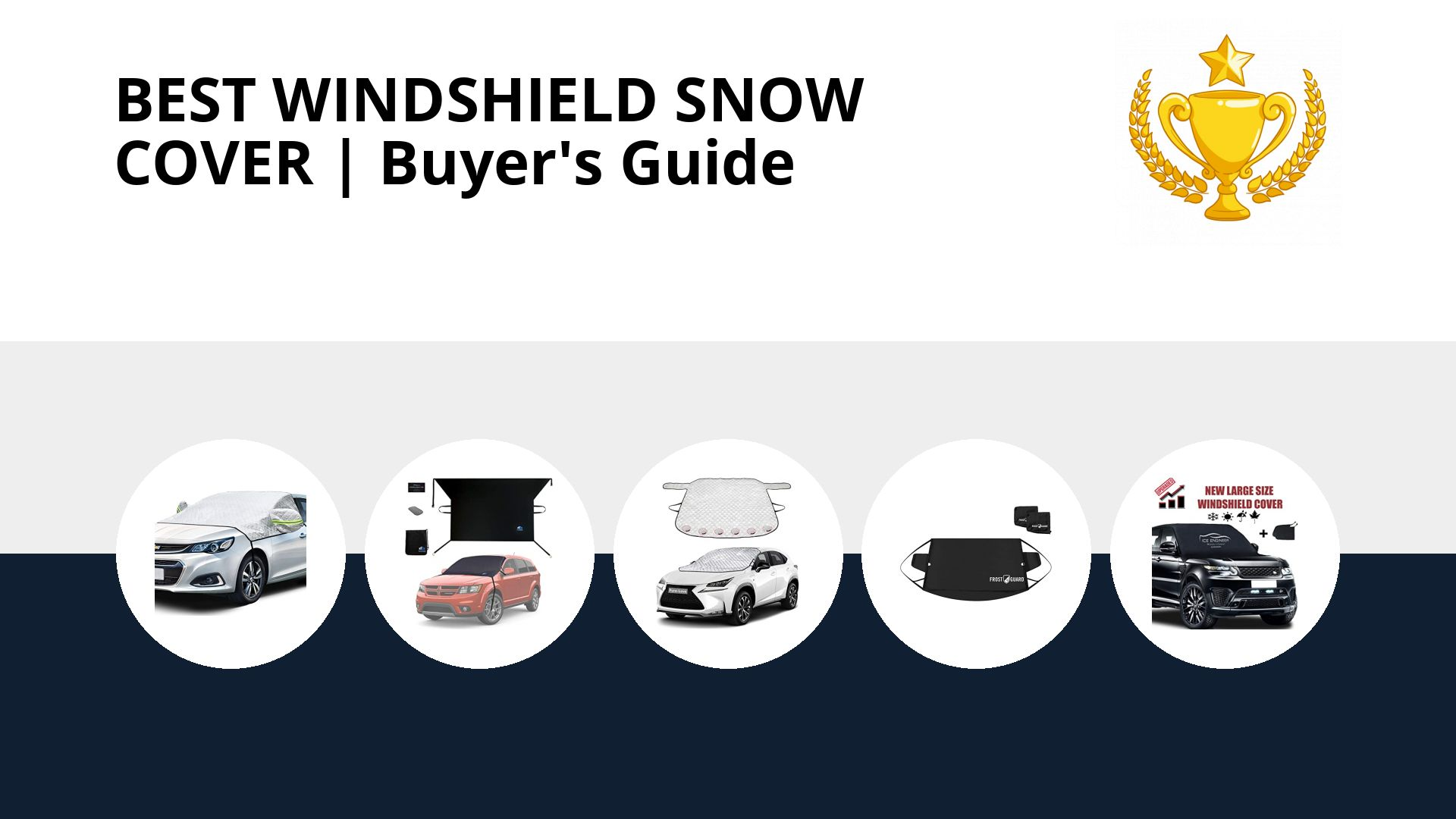 Best Windshield Snow Cover: image