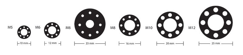 Drilled Washers: image