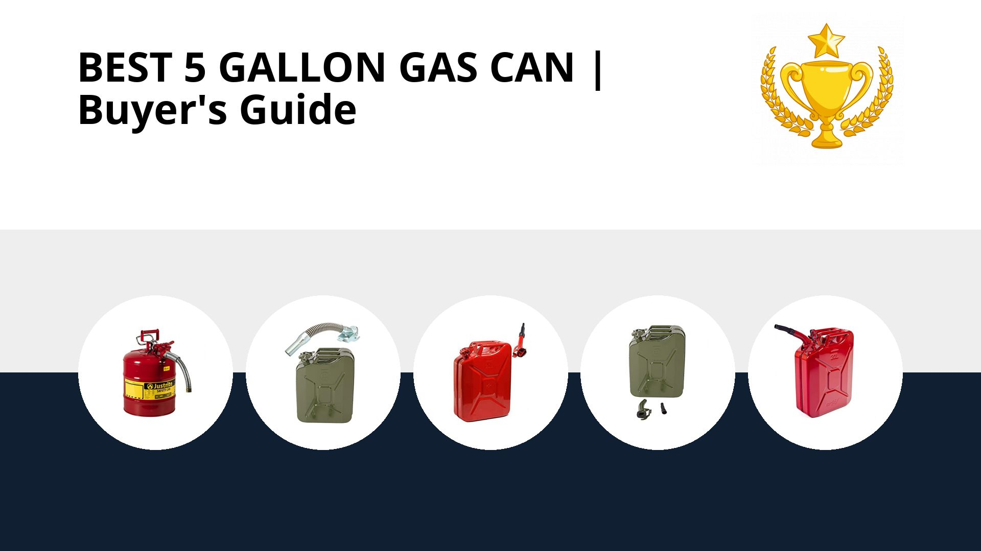 Best 5 Gallon Gas Can: image