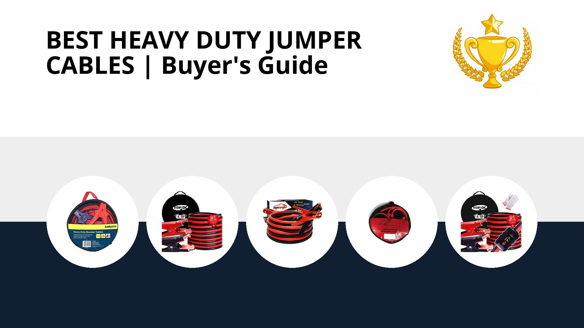 Best Heavy Duty Jumper Cables: image