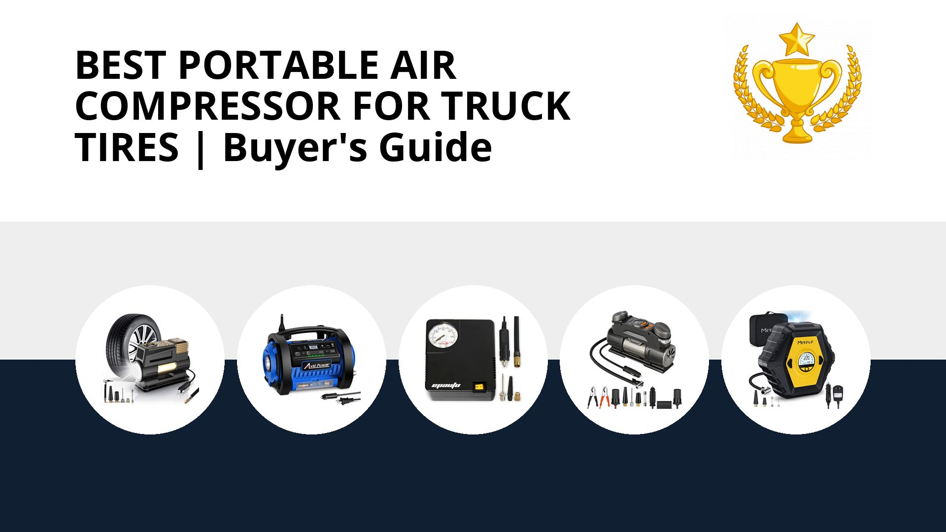 Best Portable Air Compressor For Truck Tires: image